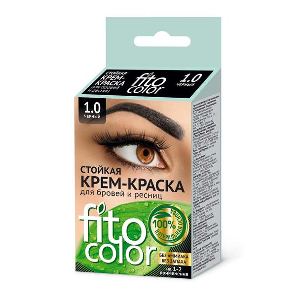 Стойкая крем-краска для бровей и ресниц - цвет черный