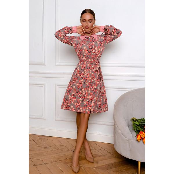 Платье с пуговицами-стразами