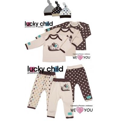 Lucky Child Комплект из 9 предметов (кофточки/3шт. + штанишки/3шт. + шапочки/3шт.), Улитки