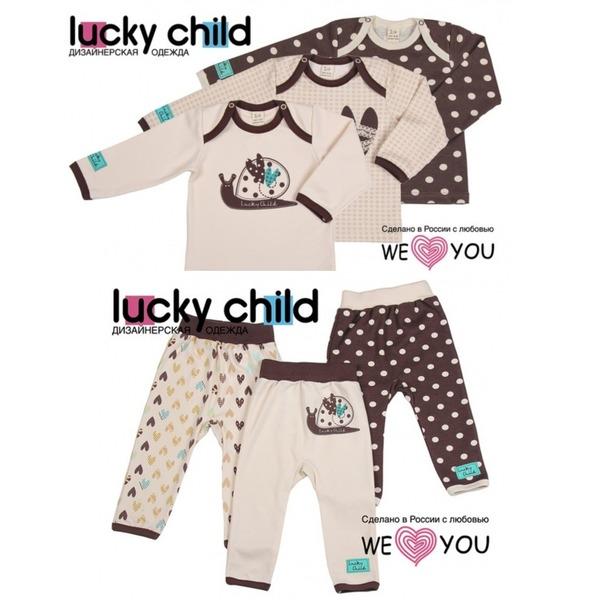 Lucky Child Комплект из 6 предметов (кофточки/3шт. + штанишки/3шт.), Улитки