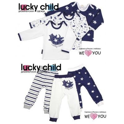 Lucky Child Комплект из 6 предметов (кофточки/3шт. + штанишки/3шт.), Котики