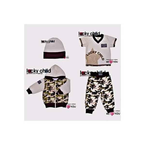 Комплект из 4 предметов (куртка + футболка + штанишки + шапочка), Вежливые люди, Lucky Child