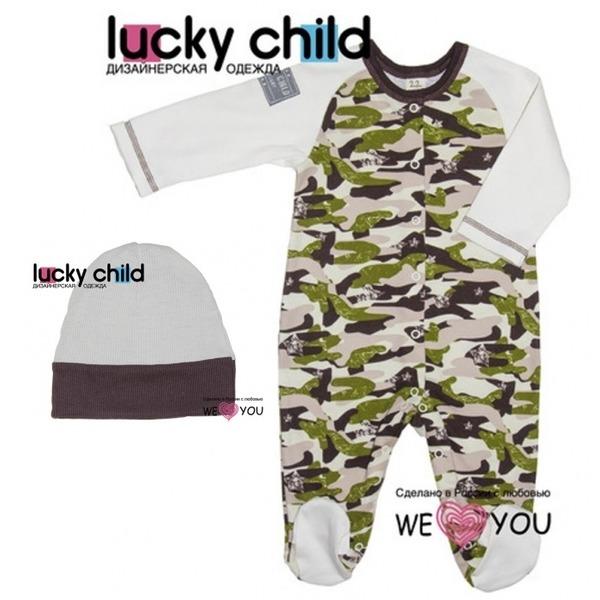 Комплект из 2 предметов (комбинезон + шапочка), Вежливые люди, Lucky Child